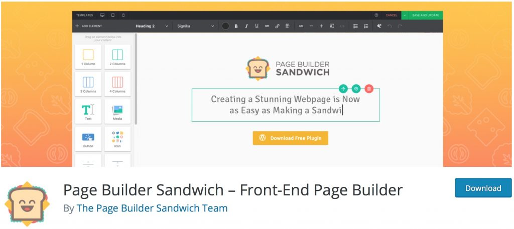 Pagebuilder Sandwich