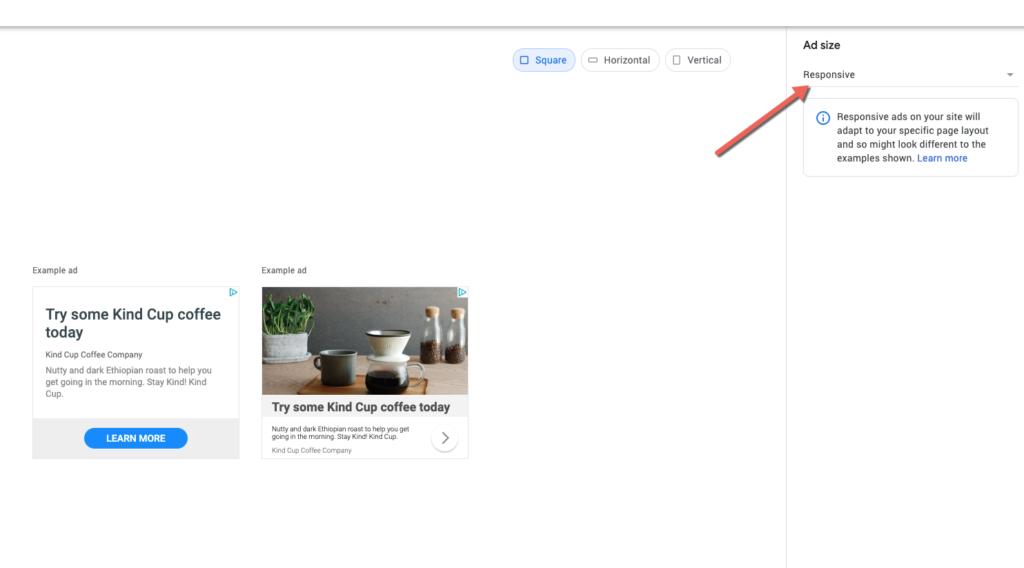 google adsense responsive